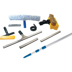 Ettore Products Window Cleaning Kit, 10-1/4 inWx2-3/4 inLx55 inH, Blue/Silver