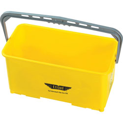 Ettore Products Bucket, w/Handle, 6-Gallon, 21-3/4 inWx10-1/2 inLx11-3/4 inH, Yellow