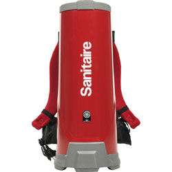 Eureka Vacuum Backpack, 10 Qt., 29 inx12 inx11 in, Red