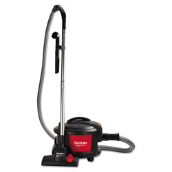 Eureka Sanitaire® EXTEND Top-Hat Canister Vacuum, 9 Amp, 11 in Cleaning Path, Red/Black