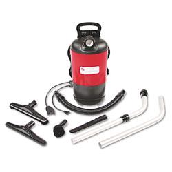Eureka TRANSPORT QuietClean Backpack Vacuum, 11.5 lb, Red