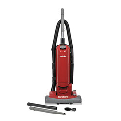Electrolux FORCE QuietClean Upright Bagged Vacuum, Sealed HEPA, 23 lb, 4.5 qt, Red