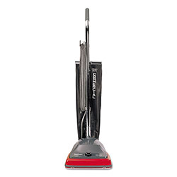 Electrolux TRADITION Upright Vacuum with Shake-Out Bag, 12 lb, Gray/Red