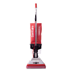 Electrolux TRADITION Upright Vacuum with Dust Cup, 7 Amp, 12 in Path, Red/Steel