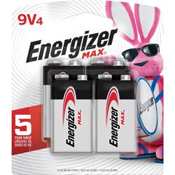 Energizer Alkaline Battery, 9 Volt, 48/CT