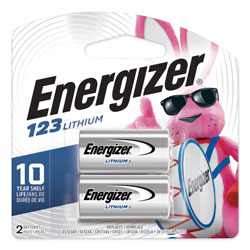 Energizer 123 Lithium Photo Battery, 3V, 2/Pack