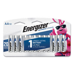 Energizer Ultimate Lithium AA Batteries, 1.5V, 12/Pack