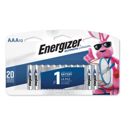 Energizer Ultimate Lithium AAA Batteries, 1.5V, 12/Pack