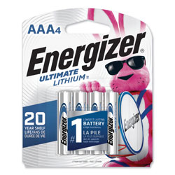 Energizer Ultimate Lithium AAA Batteries, 1.5V, 4/Pack