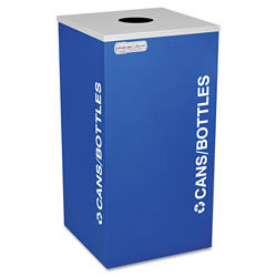 Ex-Cell Metal Kaleidoscope Collection Bottle/Can-Recycling Receptacle, 24 gal, Royal Blue