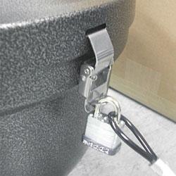 Smokers' Oasis™ Smokers' Oasis Lock Kit, 48in Plastic-Coated Steel Cable w/Lock/Key