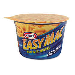 Kraft Foods Easy Mac Macaroni & Cheese, Micro Cups, 2.05oz, 10/Carton
