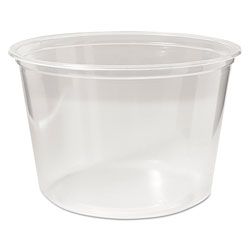 Fabri-Kal Microwavable Deli Containers, 16 oz, Clear, 500/Carton
