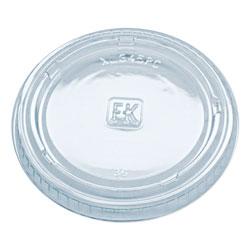 Fabri-Kal Portion Cup Lids, Fits 3.25-5.5oz Cups, Clear, 2500/Carton