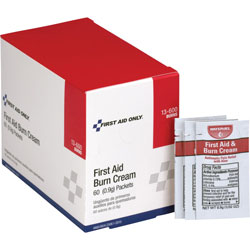 First Aid Only First Aid Burn Ointment, Singe Use Packets, 50/BX, Red/White