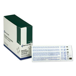 First Aid Only Disposable Thermometer, Dot-Matrix Phase-Change, 100/Box