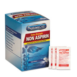 First Aid Only Pain Relievers/Medicines, XStrength Non-Aspirin Acetaminophen,2/Packet,125 Pk/Bx