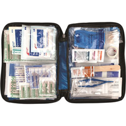 First Aid Only First Aid Kit, 138 Pc, Fabric, Blue
