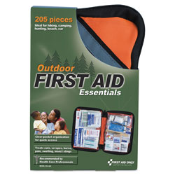 First Aid Only Outdoor Softsided First Aid Kit for 10 People, 205 Pieces/Kit