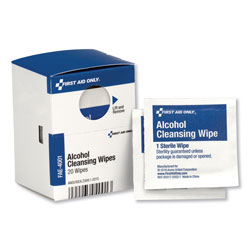 First Aid Only SmartCompliance Alcohol Cleansing Pads, 20/Box