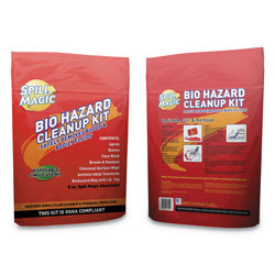 Spill Magic™ Biohazard Spill CleanUp, 3/4 in x 6 in x 9 in