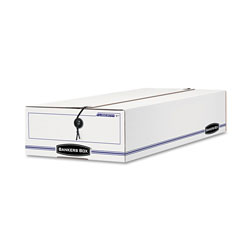 Fellowes LIBERTY Check and Form Boxes, 11 in x 24 in x 5 in, White/Blue, 12/Carton