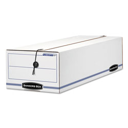 Fellowes LIBERTY Check and Form Boxes, 9.75 in x 23.75 in x 6.25 in, White/Blue, 12/Carton