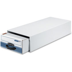 Fellowes Stor/Drawer Plus File, 10-1/2 inx6-1/2 inx25-1/4 in, 12/CT, White/Beige
