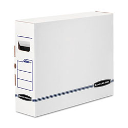 Fellowes X-Ray Storage Boxes, 5 in x 18.75 in x 14.88 in, White/Blue, 6/Carton