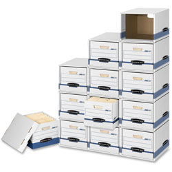 Fellowes File/Cube Box Shell, Letter/Legal, 12 in x 15 in x 10 in, BE/WE