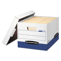 Fellowes R-KIVE Heavy-Duty Storage Boxes, Letter/Legal Files, 12 in x 16.5 in x 10.38 in, White, 20/Carton
