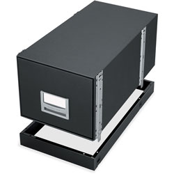 Fellowes Bankers Box Metal Bases for Staxonsteel & High-Stak Files, Letter, Black