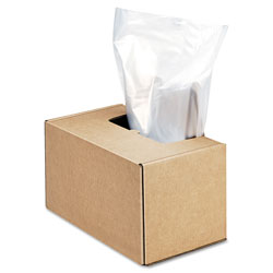 Fellowes Shredder Waste Bags, 50 gal Capacity, 50/Carton