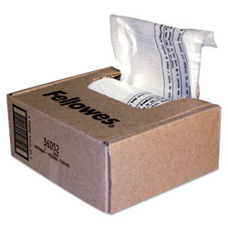 Fellowes Shredder Waste Bags, 6-7 gal Capacity, 100/Carton