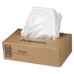 Fellowes Shredder Waste Bags, 16-20 gal Capacity, 50/Carton