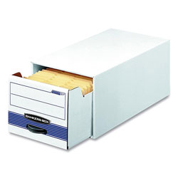 Bankers Box® STOR/DRAWER Basic Space-Savings Storage Drawers, Legal Files, 16.75 x 19.5 x 11.5, White/Blue