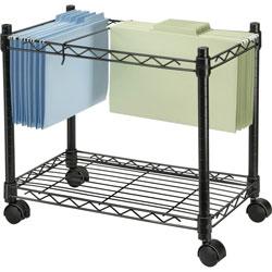 Fellowes High-Capacity Rolling File Cart, 24w x 14d x 20-1/2h, Black