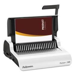 Fellowes Comb Binding Machine, 300 Sheet Capacity, White
