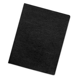 Fellowes Executive Leather-Like Presentation Cover, Round, 11-1/4 x 8-3/4, Black, 50/PK