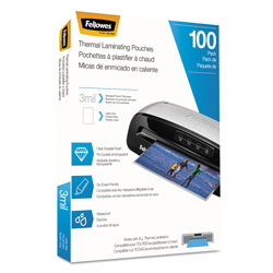 Fellowes Laminating Pouches, 3 mil, 9 in x 11.5 in, Gloss Clear, 100/Pack
