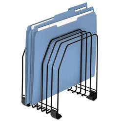 Fellowes Wire Organizer, 7 Sections, Letter to Legal Size Files, 7.38 in x 5.88 in x 8.25 in, Black