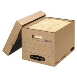 Fellowes Filing Box, Letter/Legal Files, 13 in x 16.25 in x 12 in, Kraft, 25/Carton