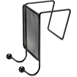 Fellowes Mesh Partition Additions Double-Garment Hook, 4 1/2 x 6, Black