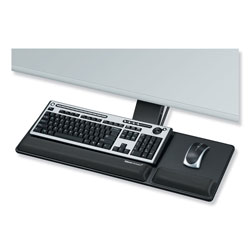 Fellowes Designer Suites Compact Keyboard Tray, 19w x 9.5d, Black