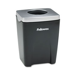 Fellowes Office Suites Paper Clip Cup, Plastic, 2 7/16 x 2 3/16 x 3 1/4, Black/Silver