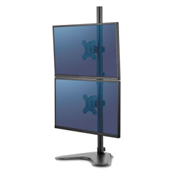 Fellowes Professional Series Freestanding Dual Stacking Monitor Arm, up to 32 in/17 lbs