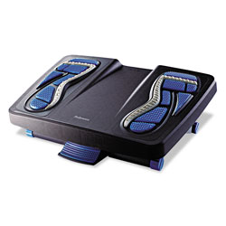 Fellowes Energizer Foot Support, 17.88w x 13.25d x 6.5h, Charcoal/Blue/Gray