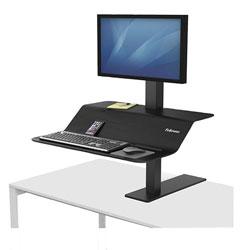 Fellowes Lotus VE Sit-Stand Workstation, 29w x 28.5d x 42.5h, Black