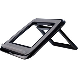 Fellowes I-Spire Series Laptop Quick Lift -Black - 1.7 in x 12.6 in x 11.3 in x - ABS Plastic - 1 Each - Black, Gray