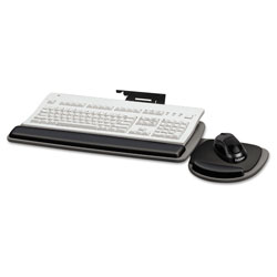 Fellowes Adjustable Standard Keyboard Platform, 20.25w x 11.13d, Graphite/Black